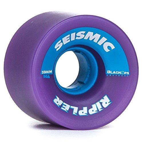 Seismic Rippler Longboard Wheels - 59mm 90a Purple (Seismic Trucks)