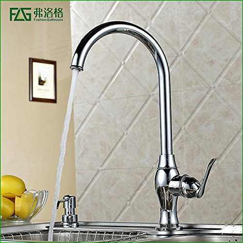 Commercial Single Lever Pull Down Kitchen Sink Faucet Brass Constructed Polished Copper Chrome Kitchen Hot And Cold Faucet