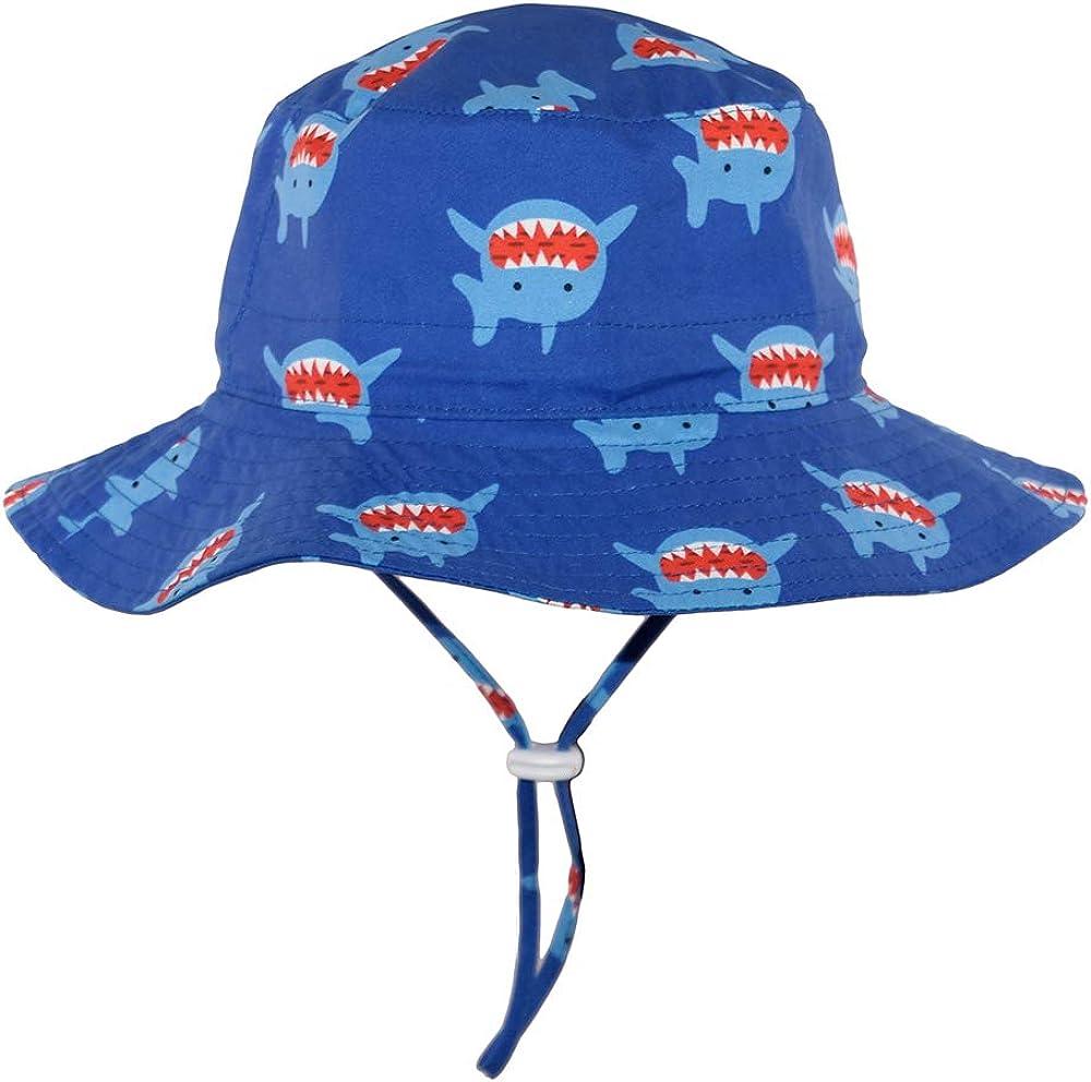 Toddler Summer UPF 50 Baby Sun Hat Boy Protection Wide Strap Bucket Adjustable Kids Beach Swim Hat