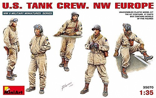 - MiniArt 1/35 American tank crew set northwest European front five bodies containing MA35070