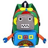 TeMan Children Backpack Kindergarten Cartoon Schoolbag for Kids Robot Backpack Blue