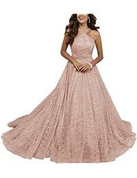 Halter Glitter Prom Dresses Long Aline Sequin Beaded Formal Gowns for Juniors