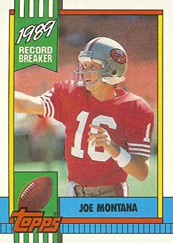 - Joe Montana Football Card (San Francisco 49ers) 1990 Topps Record Breaker #1