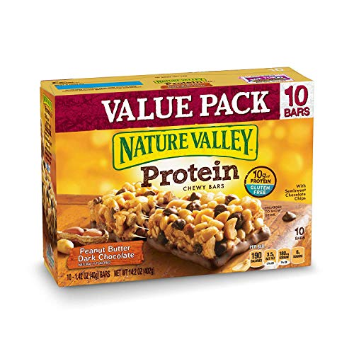 Nature Valley Chewy Granola Bar, Protein, Peanut Butter Dark Chocolate, 10 Bars - 1.4 ()