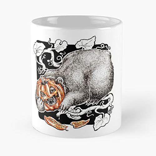 Pumpkin Halloween Inktober Animal - Best Gift Ceramic Coffee Mugs 11 Oz -