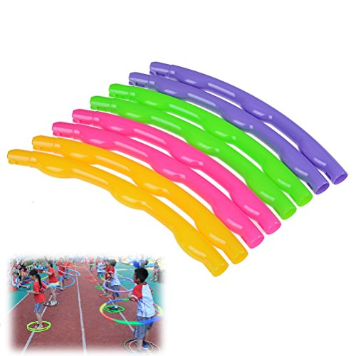 Ensunal 1pc Children's Collapsible Hula Hoop Removable Outdoors Toy Physical Exercise Accessories