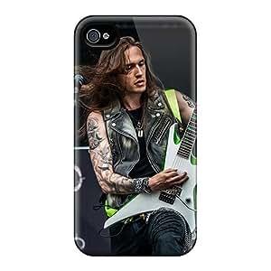JonBradica Iphone 4/4s Shockproof Hard Phone Covers Allow Personal Design Realistic Amorphis Band Skin [mfT544SeWU]