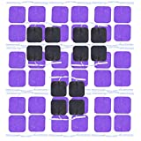 12 Pairs Self Stick Replacement Massage Electrode Long Life Pin-Insert Square Pads for HealthmateForever Pulse Palm Digital Massager(Purple Color)