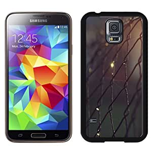 Fashionable And Unique Designed Cover Case For Samsung Galaxy S5 I9600 G900a G900v G900p G900t G900w With Barbwire Fence Lockscreen_Black Phone Case