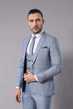 e19c5e156f62d Yelek Yakalı Ç.Mavi Takım Elbise | Wessi LACIVERT 46: Amazon.com.tr ...