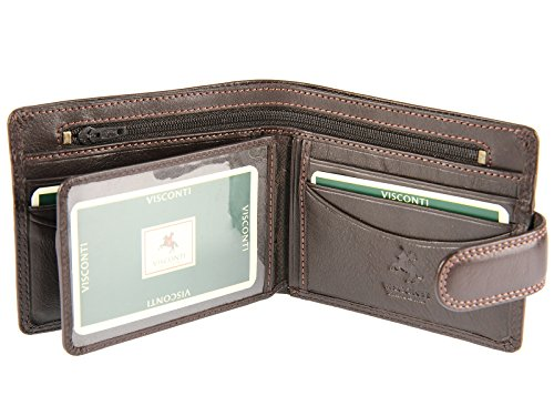 Gents Brown Credit Wallet Leather Banknotes Collection For Heritage HT9 Mens Coins amp; Cards Visconti tnp1q1