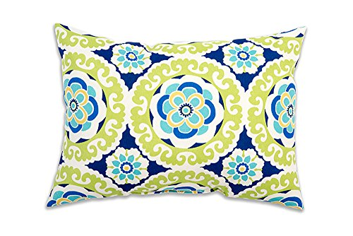 R & F Marketing Stratford Home 12×20 Indoor/Outdoor Decorative Lumbar Pillows, Halina Wasabi