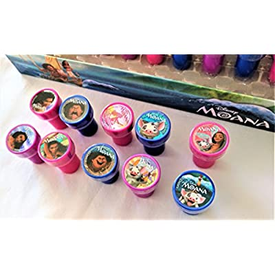 Disney Moana Self-inking Stamps Birthday Party Favors 30 Pieces: Toys & Games