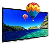 100 Inch Portable Projector Screen,TOUMEI 16:9 Foldable Outdoor Front Movie Screen, Lightweight, Folding Movie Screen for Camping/Home Theater/Education/Office Presentation