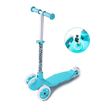 Albott Patinete de 3 Ruedas Scooter con Led Luces niños ...