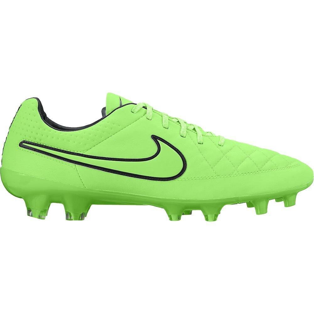 Nike - Botas de fútbol de cuero para hombre CARGO KHAKI/VLTG GRN-BLK-WHITE 9: Amazon.es: Deportes y aire libre