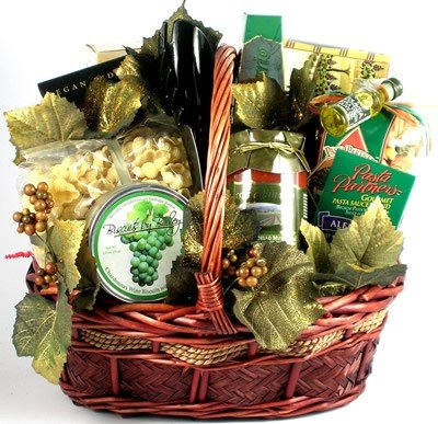 A Visit to Tuscany Gourmet Italian Gift Basket for Men or Women