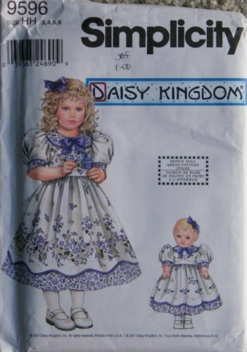 Simplicity Daisy Kingdom Pattern 9596 girls dress and for sale  Delivered anywhere in USA