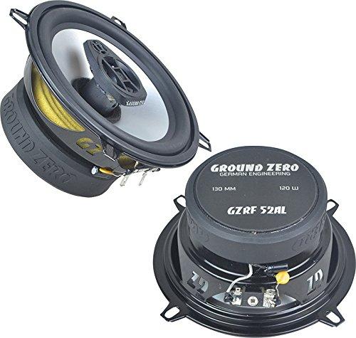 Ground Zero Lautsprecher GZRF52AL 13cm 240 Watt inkl Einbauset fü r Dacia Sandero Alle Tü ren Vorne und Hinten EHO