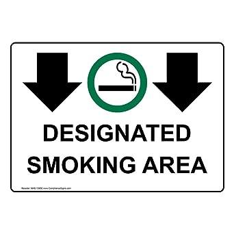 Amazon.com: Señal de zona de fumar de aluminio, 14.0 x 10.0 ...