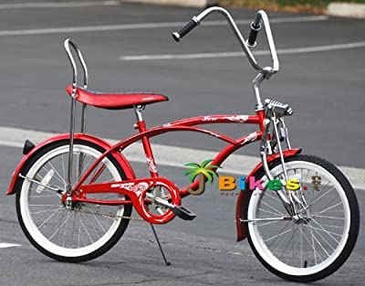 "Micargi Hero 20"" Boys Kids Low Rider Beach Cruiser Bicycle Red"