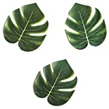 "Super Z Outlet Tropical Imitation Plant Leaves 8"" Hawaiian Luau Party Jungle Beach Theme Decorations for Birthdays, Prom…"