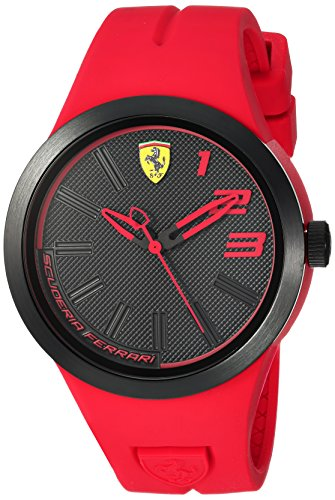 Ferrari Men's 'FXX' Quartz Plastic and Rubber Casual Watch, Color:Red (Model: 840017)