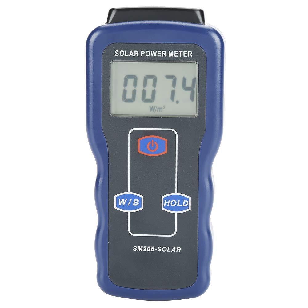 Akozon Solar radiation measurement power meter SM206 Digital Meter Solar Power Meter Sun Light Measuring Instrument Data Hold And Peak Hold