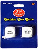 Beistle 66682 21st Birthday Decision Dice Game