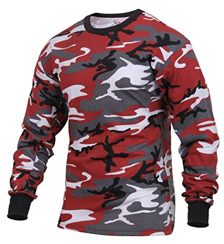 olored Camo T-Shirt, Red Camo, XL ()