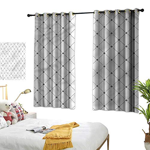 - Living Room Curtains Fleur De Lis,Shabby Chic Damask 72