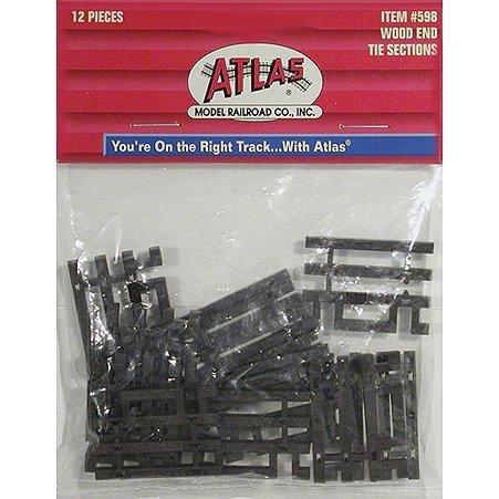 HO Code 83 Flex-Track End Ties (6) by Atlas Model - Flex Code Ho 83 Track