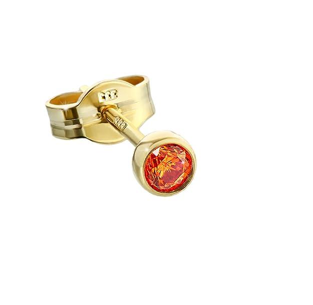 Pendientes Oro 3,50mm naranja Circonitahttps://amzn.to/31BeZVf