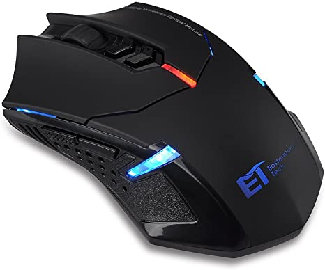 Pictek 6 Buttons Ergonomic Optical USB Mouse PC Laptop Co... Gaming Mouse Wired