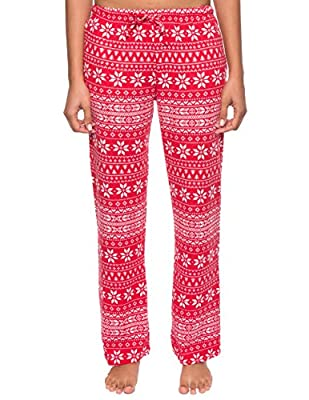 Noble Mount Women's Waffle Knit Thermal Lounge Pants