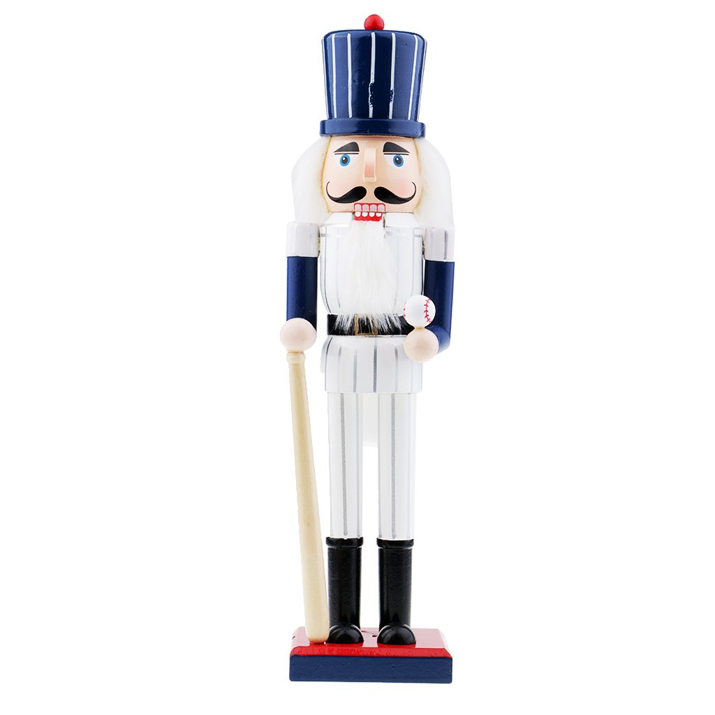 Flameer Toy Wooden Nutcracker Walnut Police Puppet Ornaments Christmas Gift Birthday Gift Christmas Ornaments - #1