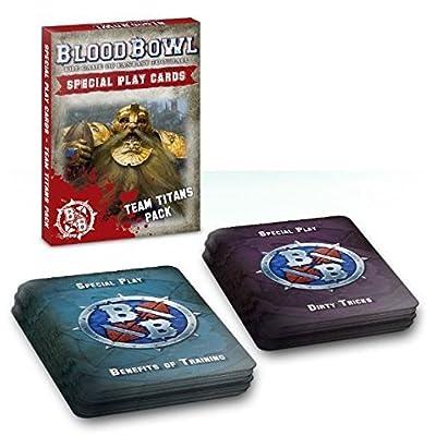 """Games Workshop 60220999002"""" Blood Bowl Cards: Team Titans Pack (Eng): Toys & Games"""
