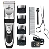 oneisall Dog Shaver Cllippers Low Noise Rechargeable Cordless Electric Queit Hair Clippers Set