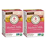 2-cajas Traditional Medicinals Organic Mother's Milk Tea Té Leche de Madre Materna Lactancia lactation, 32 sobres total, 16 sobres por caja