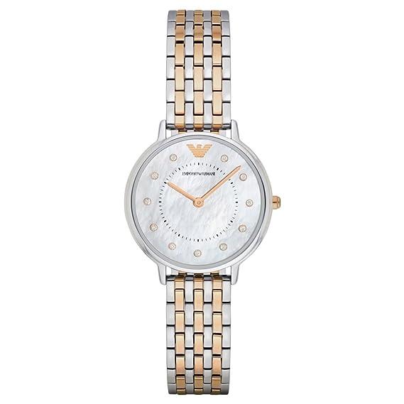 Emporio Armani Reloj para Mujer de Cuarzo con Correa en Acero Inoxidable AR2508: Amazon.es: Relojes
