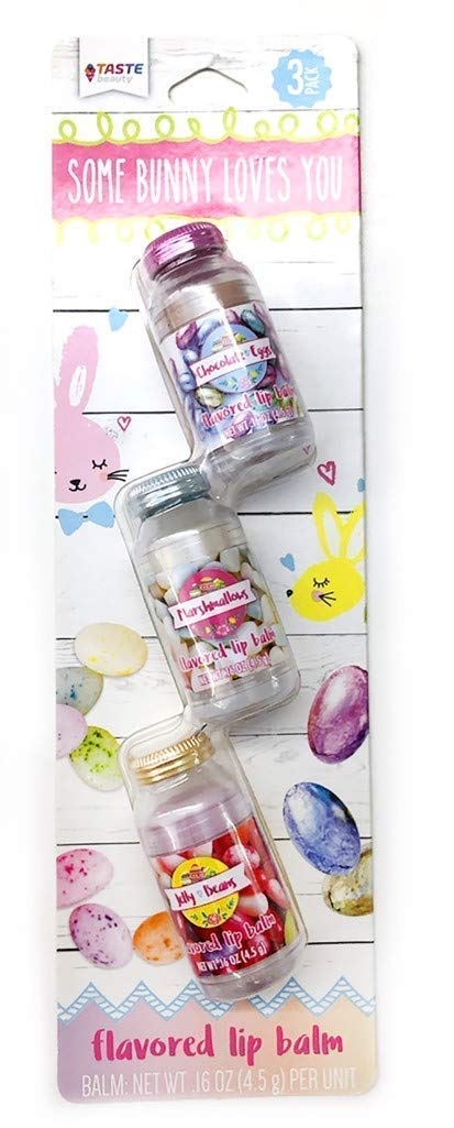 Taste Beauty 96 Mason Jar Easter Themed Lip Balms for Kids (32 3-Packs)