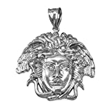 Sterling Silver Medusa Pendant (S/M/L) (Medium)