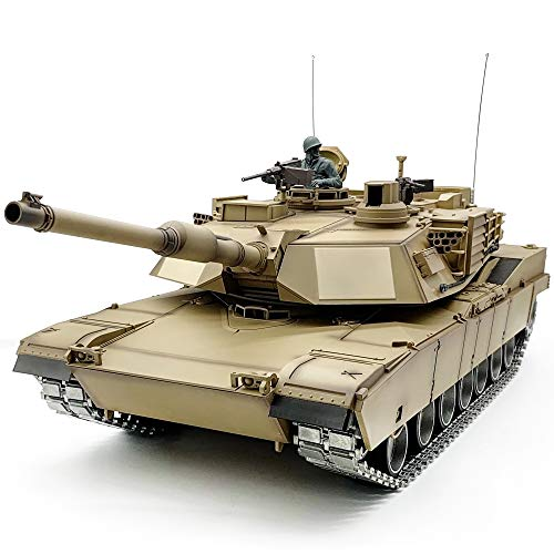HAWK'S M1A2-D 1/16 RC Tank Model US Army Abrams Main Battle Tank BB Shooting Infrared Battle Metal Parts