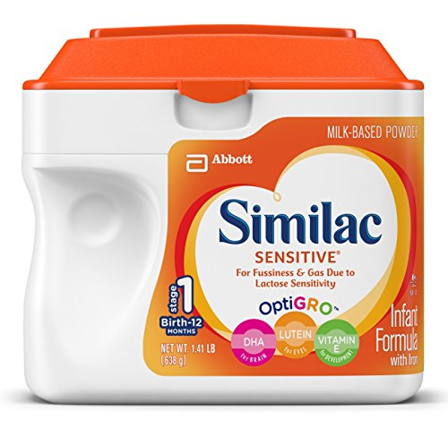 Similac Sensitive Infant Formula with Iron, Powder, 22.6 Ounces (Pack of 6)