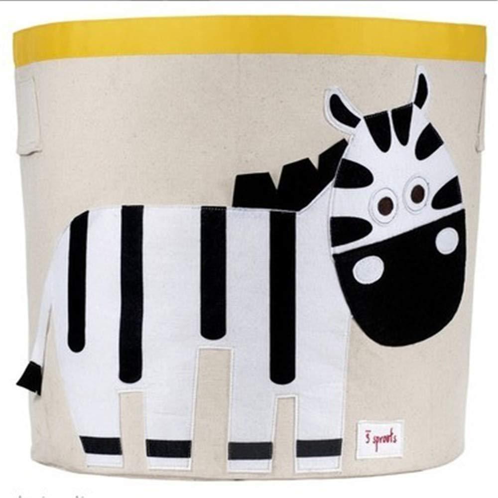 Zebra Cesta per biancheria con manici-Cestello pieghevole in Tela per cestino, Stanza per Bambini, casa organizzatore, deposito per asilo Nido, culla, (Zebra),Squirrel