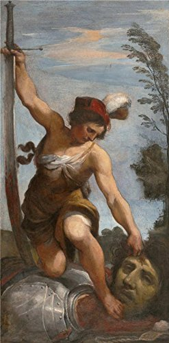 The High Quality Polyster Canvas Of Oil Painting 'Giovanni Francesco Barbieri,David With The Head Of Goliath,about 1618' ,size: 24x49 Inch / 61x124 Cm ,this Imitations Art DecorativePrints On Canvas Is Fit For Nursery Gallery Art And Home Decor And Gifts