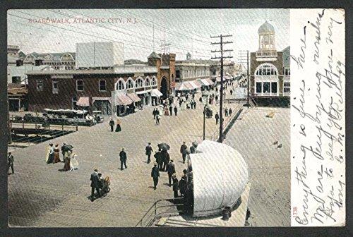 Boardwalk Atlantic City NJ undivided back postcard - City Walk Atlantic Nj The