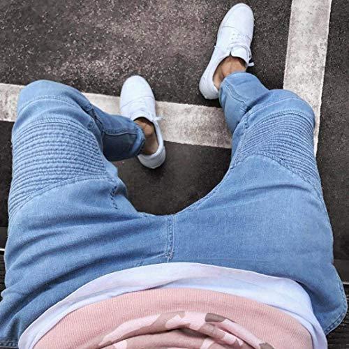 Elásticos Rectos Pantalones Battercake Estirados Largos Ufige Blau Los Cómodo Vaqueros De Hombres Hren Jeans qx8dHw4XdF
