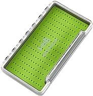 BASSDASH Waterproof Fly Box Single/Double Sided Fishing Flies Storage with Foam/Silicone Slits Insert