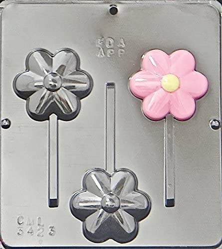Flowers Assorted Lollipop Chocolate Candy Mold  229 NEW